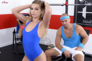 Sydney Cole Gorgeous Sporty Girl Sydney Cole Seduces A Guy In The Gym