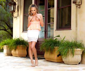 Aubrey Star / Audrey Star – Petite Miss Star Posing Outdoors For Twistys