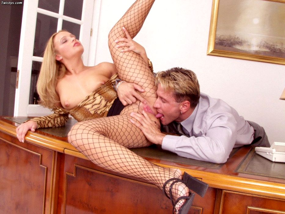 Tiffany Rose In Fishnet Pantyhose Getting Fucked