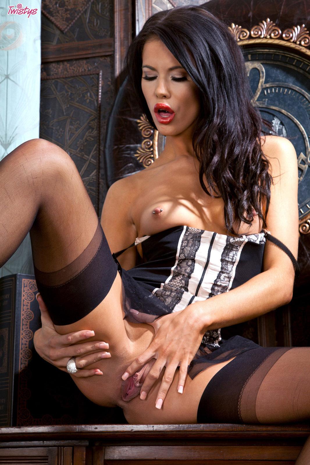 Megan Coxxx Black Nylons 6