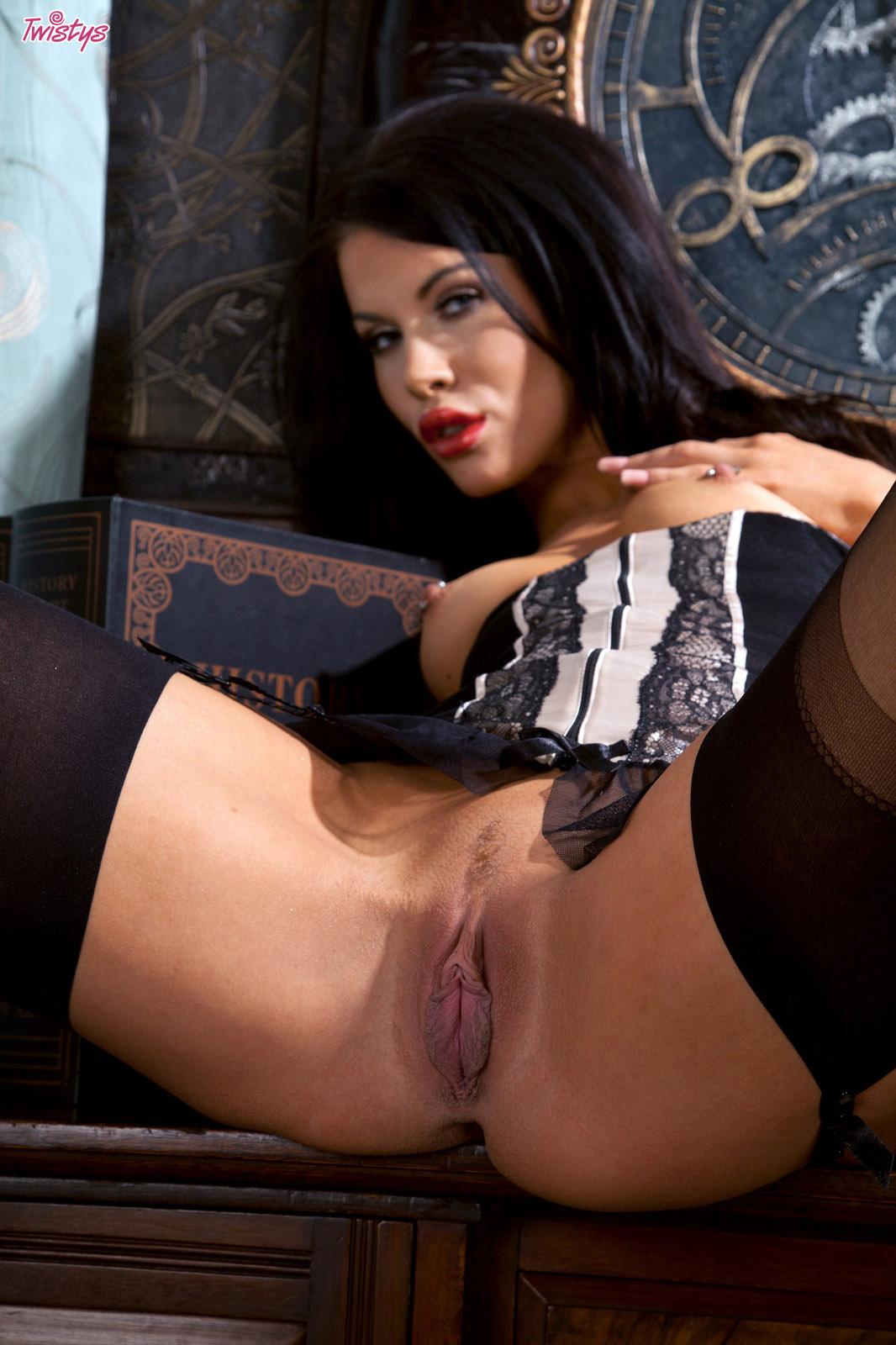 Megan Coxxx Black Nylons 8
