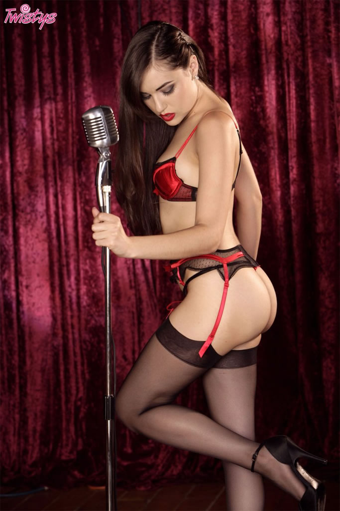 Pretty Brunette Singer In Hot Lingerie 2