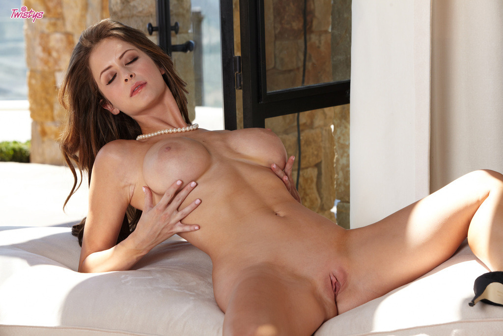 Emily Addison Displaying Her Shaved Cunt For Twistys 4
