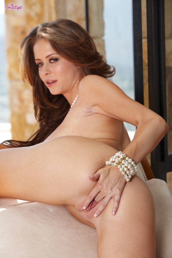 Emily Addison Displaying Her Shaved Cunt For Twistys 9